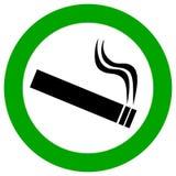 Sinal do vetor da área de fumo Fotografia de Stock Royalty Free