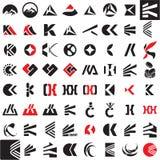 Sinal do vetor da letra de K Imagem de Stock