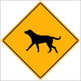 Sinal do vetor do cão Foto de Stock Royalty Free