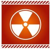 Sinal do vetor para a radioactividade Foto de Stock