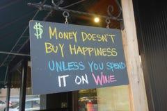 Sinal do vinho Imagens de Stock