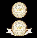 Sinal do Vip do ouro branco Fotografia de Stock Royalty Free