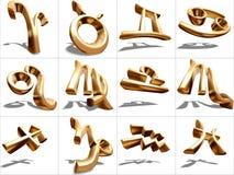 sinal do zodíaco 3D Imagens de Stock Royalty Free