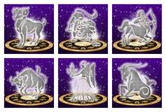 Sinal do zodíaco ajustado (01) Imagem de Stock Royalty Free