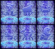 Sinal do zodíaco ajustado (01) Imagens de Stock Royalty Free