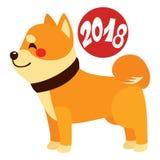 Sinal do zodíaco de 2018 cães Imagens de Stock