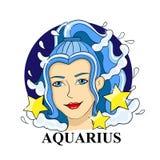 Sinal do zodíaco do Aquário Símbolo astrológico Imagens de Stock