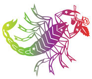Sinal do zodíaco do escorpião Ilustração Royalty Free