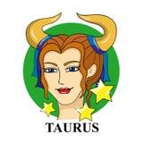 Sinal do zodíaco do Taurus Símbolo astrológico Foto de Stock
