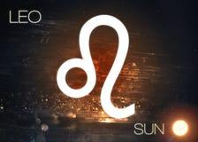 Sinal do zodíaco - Leo imagem de stock