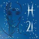 Sinal do zodíaco pisces ilustração royalty free