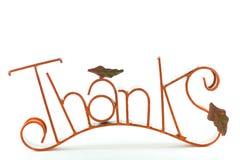 Sinal dos agradecimentos. Imagem de Stock