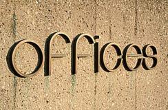 Sinal dos escritórios Imagem de Stock