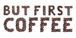 Sinal dos feijões de café Fotos de Stock
