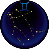 Sinal dos Gemini do zodíaco Imagens de Stock