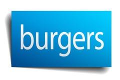 sinal dos hamburgueres ilustração do vetor