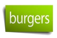 sinal dos hamburgueres ilustração royalty free