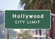Sinal dos limites de cidade de Hollywood Imagens de Stock Royalty Free
