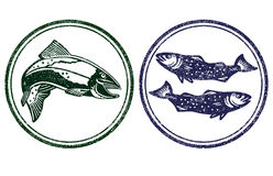 Sinal dos peixes Imagens de Stock