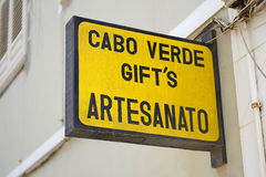 Sinal dos presentes de Cabo Verde Foto de Stock