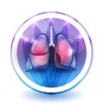 Sinal dos pulmões ilustração stock