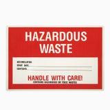Sinal dos resíduos perigosos. foto de stock royalty free