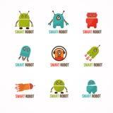 Sinal dos robôs Fotografia de Stock
