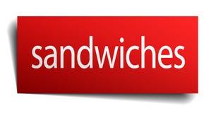 sinal dos sanduíches ilustração do vetor