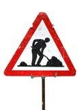 Sinal dos trabalhos de estrada Imagens de Stock Royalty Free