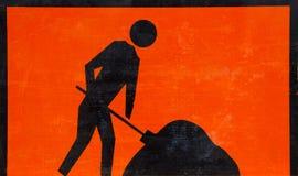 Sinal dos trabalhos de estrada. Imagem de Stock
