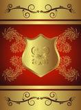 Sinal dourado Imagem de Stock Royalty Free