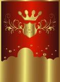Sinal dourado da nuvem Fotografia de Stock