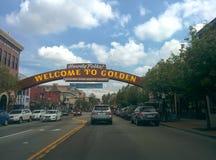 Sinal dourado de Colorado imagem de stock royalty free