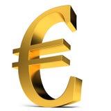 Sinal dourado do Euro Foto de Stock