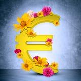 Sinal dourado do Euro Imagens de Stock Royalty Free