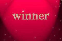 Sinal dourado, vencedor da palavra escrita ilustração royalty free