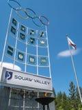 Sinal e chama, Squaw Valley, EUA imagens de stock royalty free