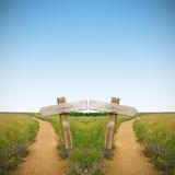 Sinal e estradas Imagem de Stock Royalty Free