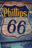 Sinal e logotipo do posto de gasolina de Phillips 66 Fotos de Stock