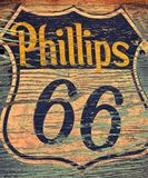 Sinal e logotipo do posto de gasolina de Phillips 66 Imagens de Stock