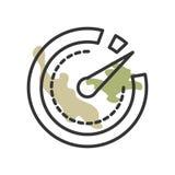 Sinal e símbolo do vetor do ícone do temporizador isolados no fundo branco, conceito do logotipo do temporizador ilustração royalty free