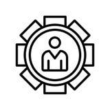 Sinal e símbolo do vetor do ícone do trabalho isolados no fundo branco, Jo ilustração royalty free