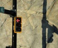Sinal e sua sombra Fotos de Stock Royalty Free