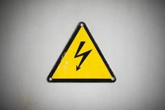 Sinal elétrico imagem de stock