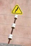 Sinal elétrico do perigo fotografia de stock