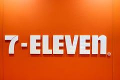 sinal 7-Eleven Imagens de Stock Royalty Free