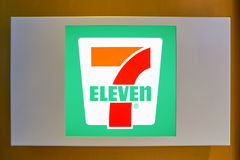 sinal 7-Eleven Foto de Stock Royalty Free