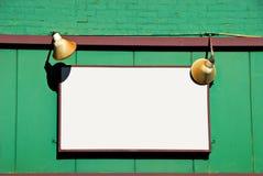 Sinal em branco Fotos de Stock
