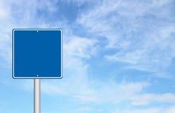 Sinal em branco azul Imagens de Stock