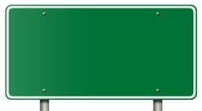 Sinal em branco da autoestrada isolado no branco Imagens de Stock Royalty Free